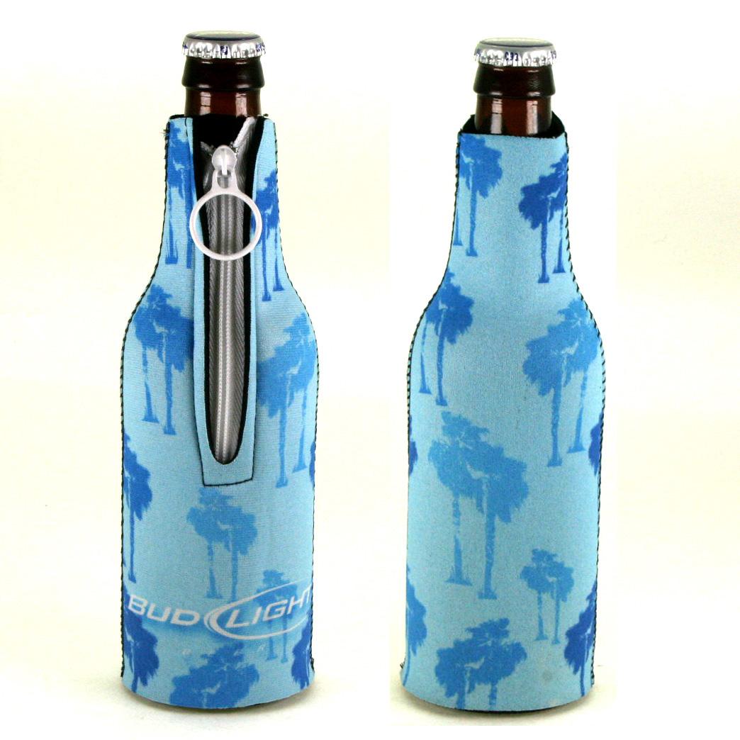 Bud Light Bottle Coozie  Light Blue (#0002 10016 / 6 Pack)