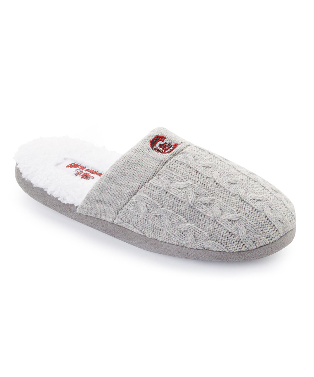 South Carolina Gamecocks Slippers Grey Cable Knit 41287 12 Pack