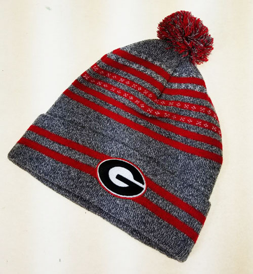 df5db99a2f5 ... Georgia Bulldogs Front   Back Cuff Logo Pom Knit Hat ( 51500G   6  Pack). 51500G