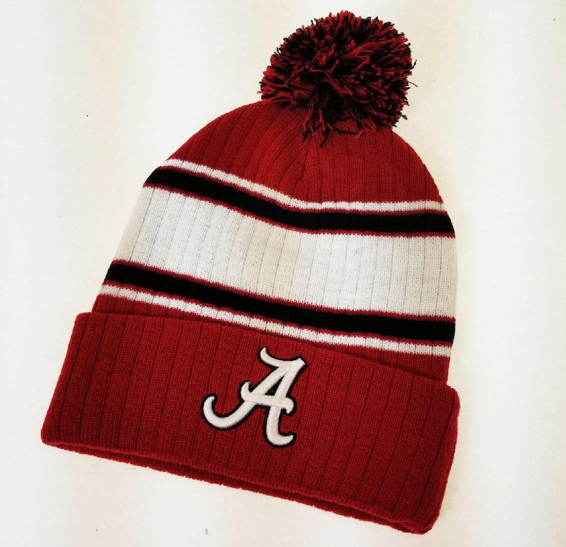pretty nice 99c17 07f0f ... amazon alabama crimson tide pompom stripe knit hat 52111 6 pack 48bb8  941cf